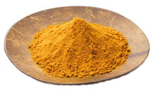 A Plate Full of Turmeric Powder