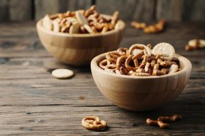 pretzels-and-snacks-in-bowls