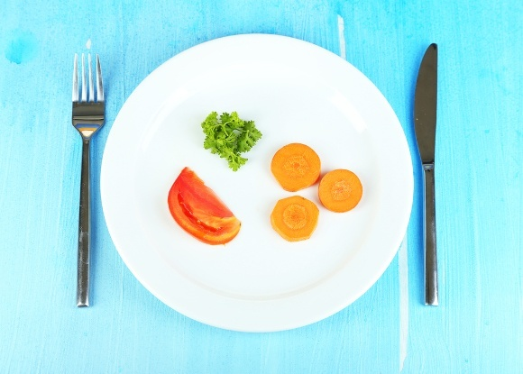 Small Portions of Veggies on Plate