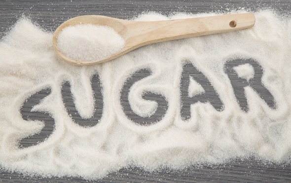 The Word Sugar Written Out With Sugar