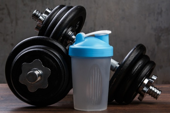 Weights and Protein Shake