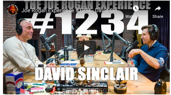 David Sinclair On Joe Rogan Podcast Chatting About Nmn And