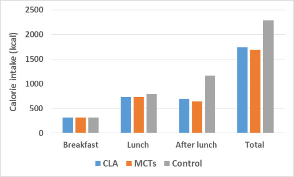Calorie Intake CLA MCT Control