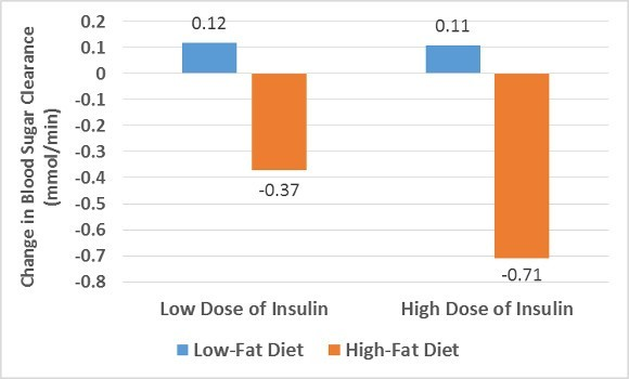 Low and High Fat Diets on Blood Sugar Clearance