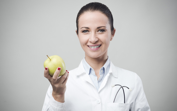 Scientist With Apple