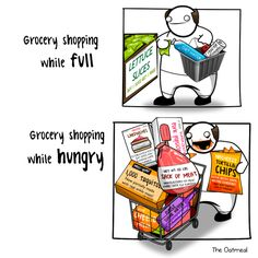 shopping while hungry
