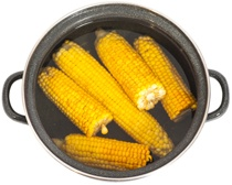 Sweet Corn in a Pot