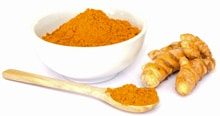 Turmeric in Bowl and Spoon